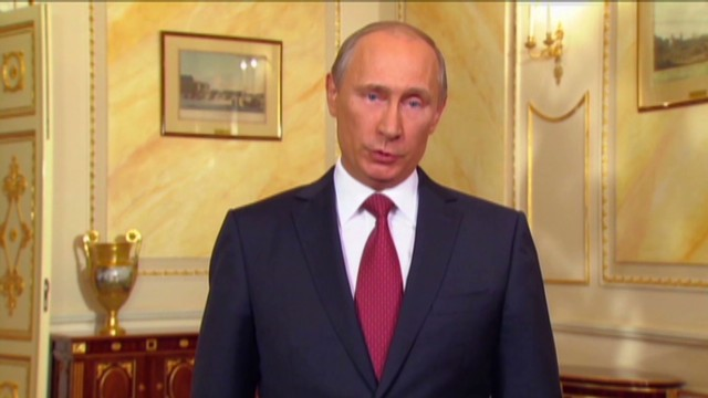 Putin makes surprising pitch in English