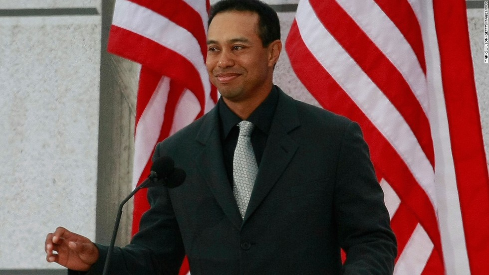 "Woods spoke at ""We Are One: The Obama Inaugural Celebration at The Lincoln Memorial"" in January 2009 for the president-elect."