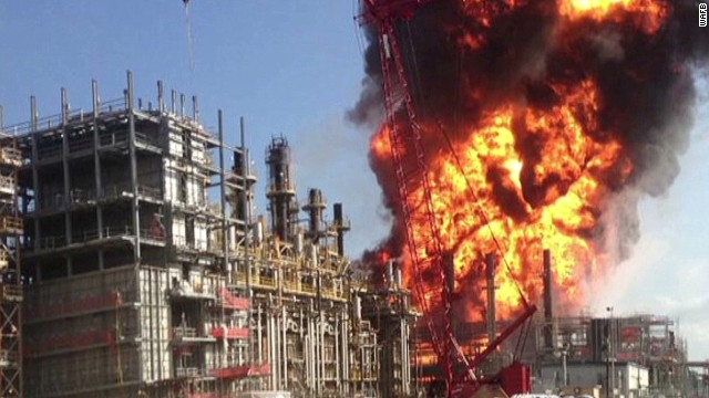 Dozens injured in refinery explosion