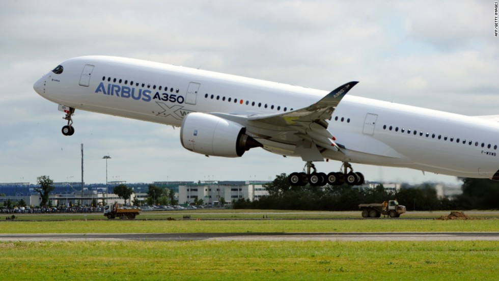 The A350 was crewed for its maiden flight by a British and a French test pilot assisted by a flight engineer and three other engineers at the back.