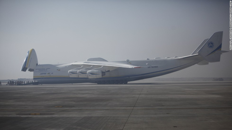 The six-engine Antonov An-225 cargo jet is widely acknowledged as the largest plane in the world. It's been spotted recently in Houston, Texas, Moses Lake, Washington; and over Chicago.