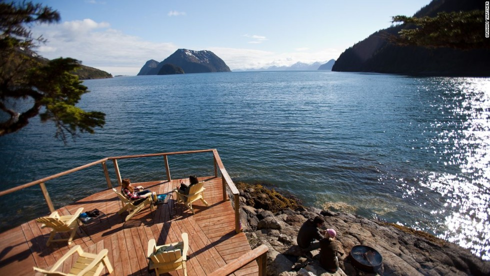For a brisk and secluded Alaskan waterfront experience, rent out all five of Orca Island's cabin yurts for $2,150 per night.