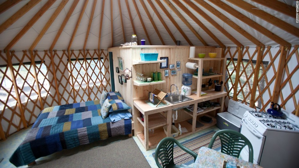 The cozy yurts sleep two to four guests. This year's per-person rate is $215 per night for a two-night minimum, based on double occupancy. Use of kayaks, rowing skiffs and fishing gear is included.