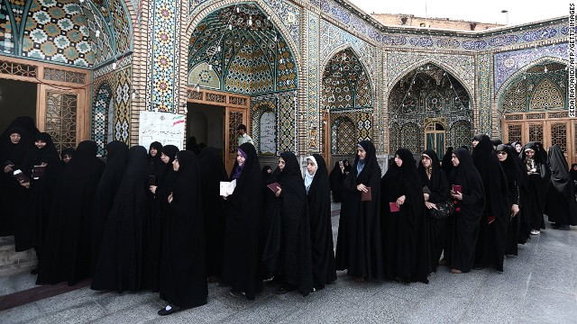 Female voters hopeful as Iran votes