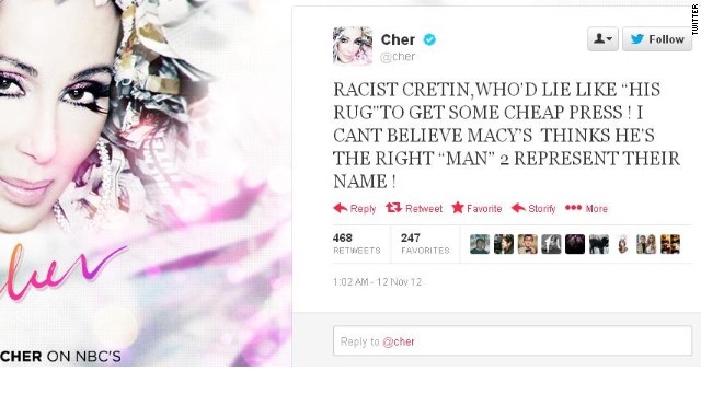 Cher didn't mince words, or spare the Caps Lock key, when taking a shot at Donald Trump on Twitter last year.