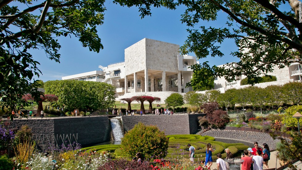 The light-filled Getty Museum in Los Angeles has interiors that display an impressive collection of European and American art including Vincent van Gogh's famous irises.