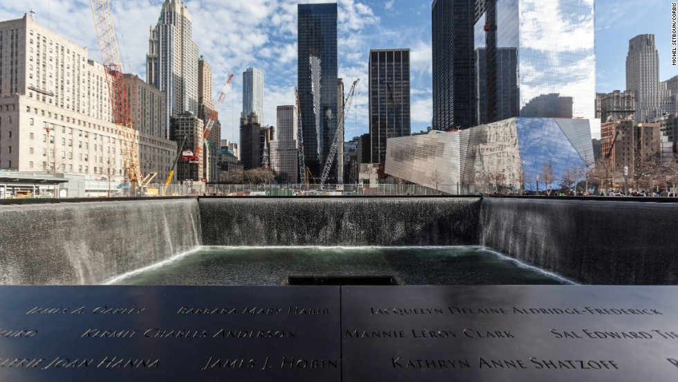 Pay your respects at twin reflecting pools that occupy the footprint of the former World Trade Center towers in New York City.