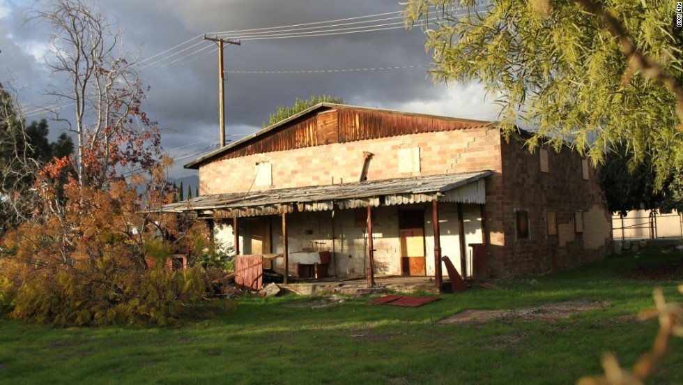 The rear view of the Chinatown House, one of the last existing connections to the Chinese-American workers who helped build Rancho Cucamonga, is shown here.