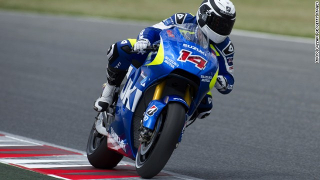 Frenchman Randy de Puniet was one of two riders in the saddle for Suzuki at a test event on Monday.