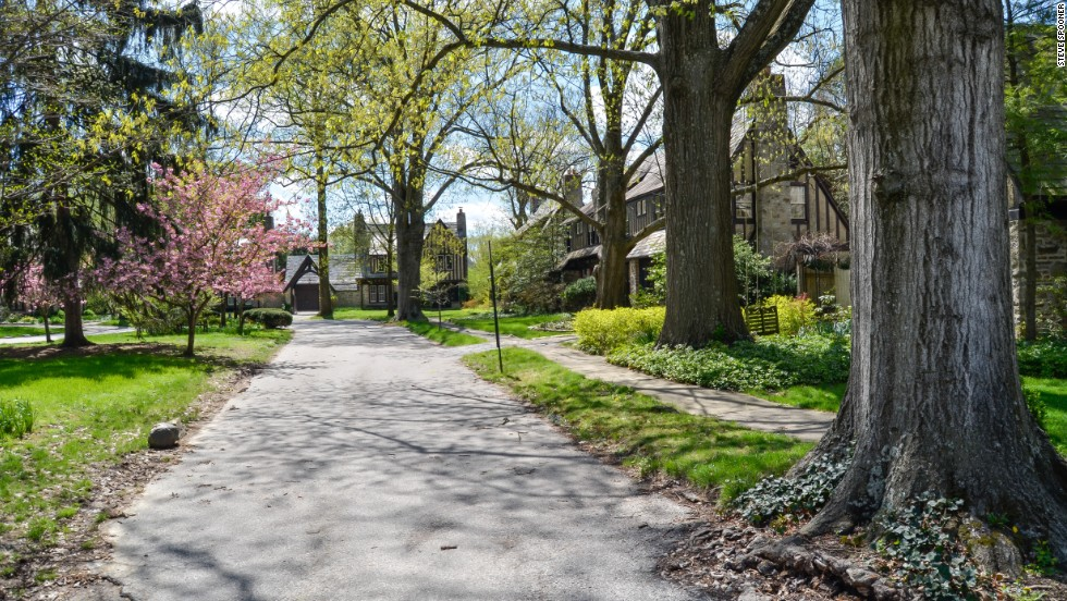 One of the first planned communities in the United States, the Village of Mariemont near Cincinnati was named a National Historic Landmark in 2007.