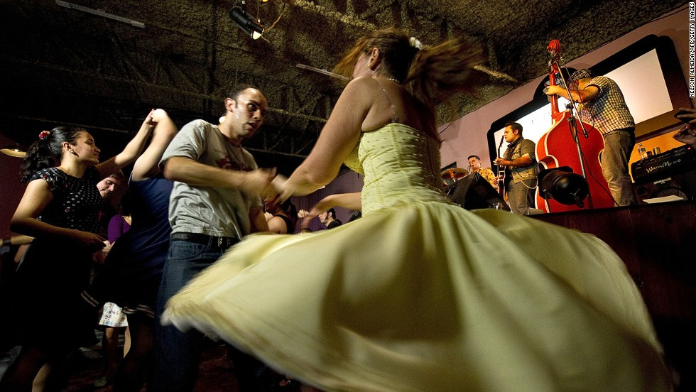 The outside world knows bossa nova and samba. But Brazil dances to the beat of many different drummers (like these at The Clock nightclub in Sao Paulo), reflecting its diverse population.
