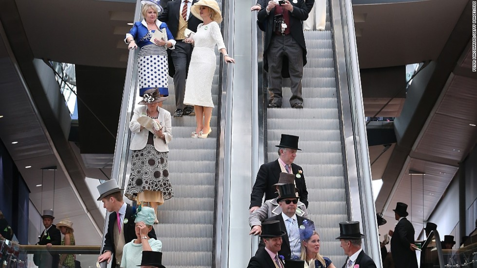 "The plush marquees feature escalators, chandeliers and fine dining. Expect to mingle with royalty, lords and real fair ladies. ""It's just incredibly beautiful,"" said Nick Smith, head of communications. ""Imagine the smartest restaurants you've ever seen."""