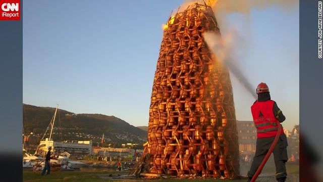 Bonfires are a highlight of Norwegian midsummer