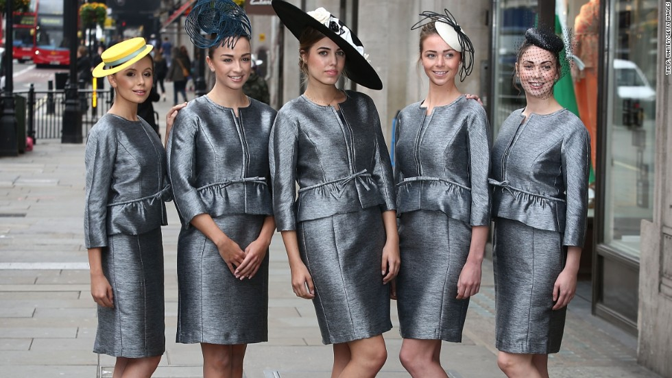 Ascot has strict rules on clothing, with fashion police (pictured) keeping an eye out for inappropriate hemlines, footwear and headgear.