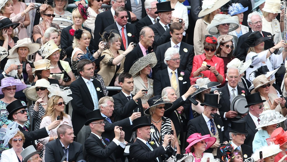 Top hats and demure dresses are a must for guests in the Royal Enclosure (pictured).