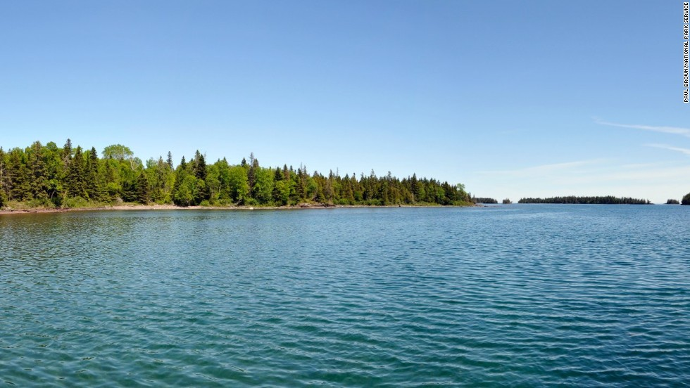 Some visitors stay for days or even weeks at a time, giving them the chance to explore sights such as Malone Bay. There's only one nine-mile trail that takes visitors there and back, but it's worth the journey for the gorgeous views of Siskiwit Lake, Isle Royale's largest lake, park ranger Lucas Westcott said.