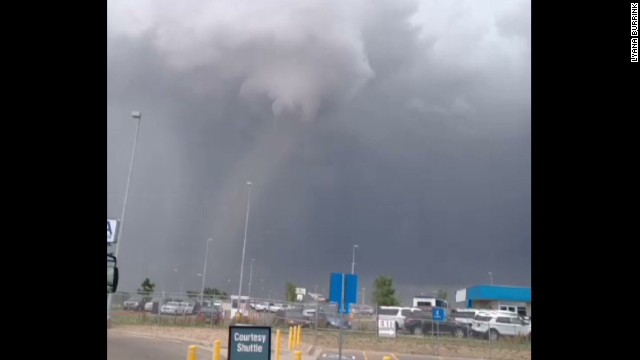 Tornado touches down near Denver airport