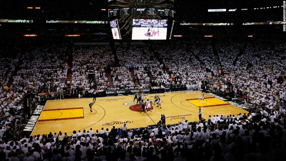 The San Antonio Spurs and the Miami Heat face off during Game 6.
