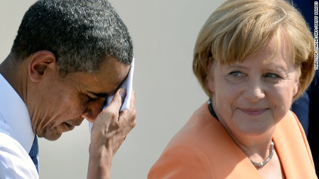President Obama has had to answer reports that the U.S. monitored German Chancellor Angela Merkel's cell phone.