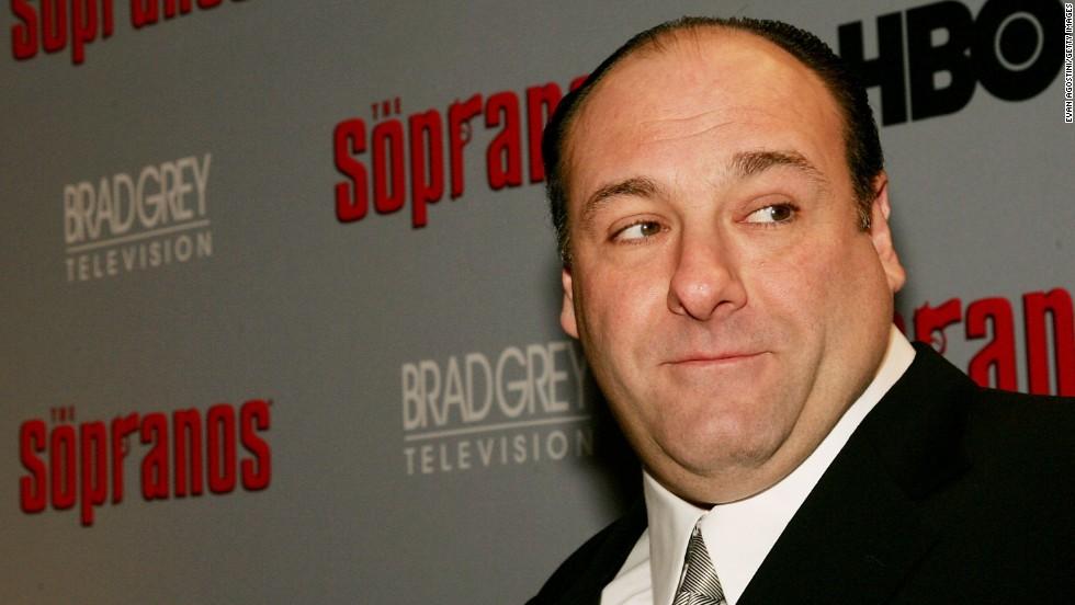 """Gandolfini attends the sixth season premiere of """"The Sopranos"""" in New York in 2006."""