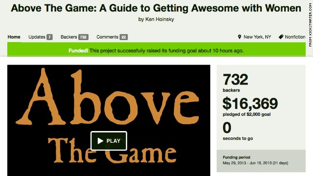 Kickstarter says it will not delete Ken Hoinsky's crowd-funding project.