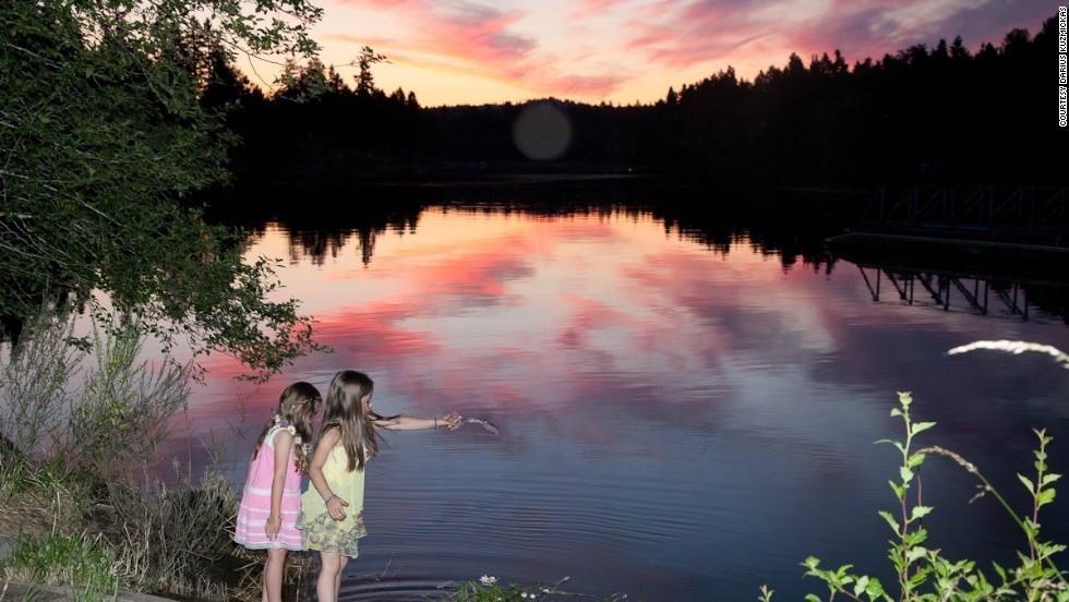 "For those living far from home, midsummer traditions can be a way to reconnect with one's roots. Darius Kuzmickas shared this photo from a midsummer celebration by the Lithuanian community in Portland, Oregon . ""We sing and dance until sunset."""
