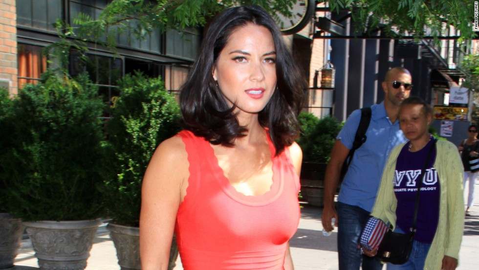 Olivia Munn was a lady in red when she hit the streets of New York on June 19.