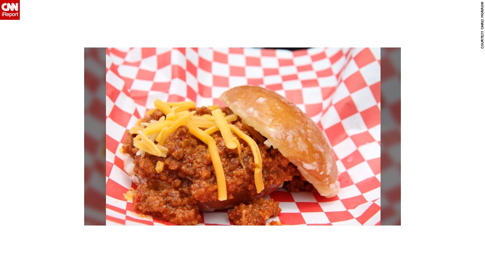 """For some, summer is marked by special foods. The San Diego Fair tends to adventurous taste buds during summer months. Californian <a href=""""http://ireport.cnn.com/docs/DOC-985936"""" target=""""_blank"""">Chris Morrow</a> starts her summer by trying the fair's food. This photo shows her husband's Krispy Kreme Sloppy Joe. """"It's a taste conflict of sweet and savory that are not complimentary. The confusion in your mouth is weird and awesome!"""""""