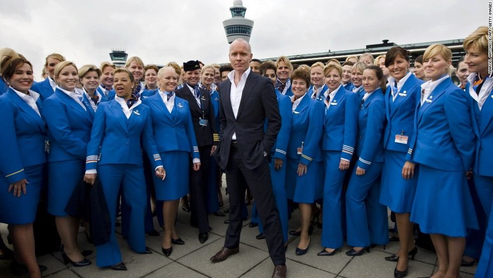 Dutch fashion designer Mart Visser created a new look for KLM's 11,000 stewardesses in 2010.