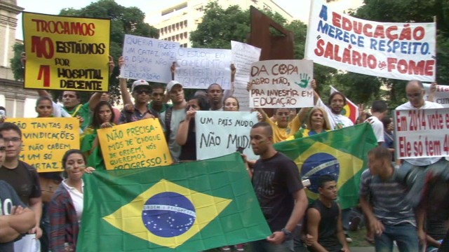 Grievances unleashed in Brazil protests