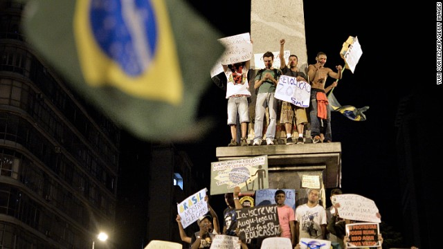 Brazil diplomat: Keep protests peaceful