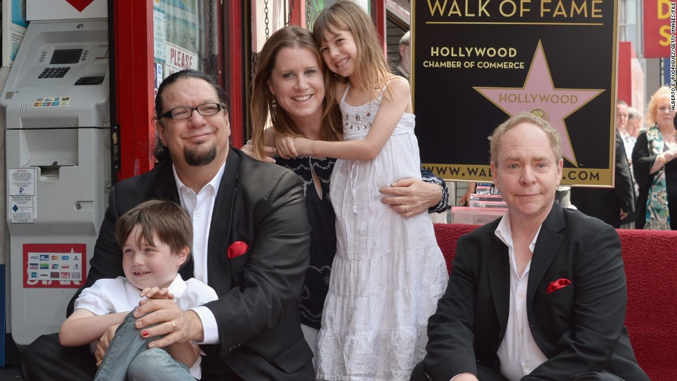 "We suppose magician Penn Jillette, seen here with his family and magic partner Teller in April 2013, really wanted magical names for his kids. His son's name, Zolten, is actually his wife, Emily's, maiden name, while his daughter's name is more creative: Moxie Crimefighter. ""I love that it's a purely American word ... and I love that it stands for old-fashioned spunk and energy,"" <a href=""http://celebritybabies.people.com/2007/06/13/cbb_exclusive_p/"" target=""_blank"">Penn said</a> in 2007."