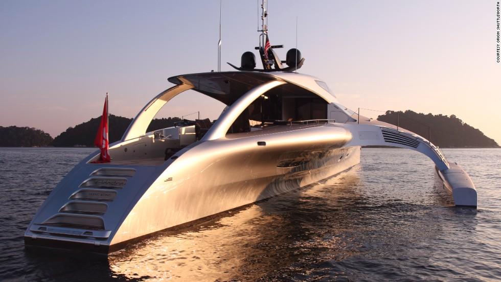 """You may think it looks unusual, but it's very logical to us -- the big aim was to create an ocean-going boat with good fuel consumption,"" said co-designer John Shuttleworth."