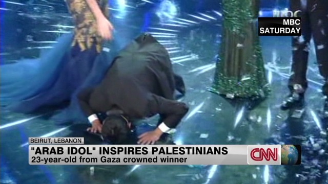 A Palestinian wins Arab Idol
