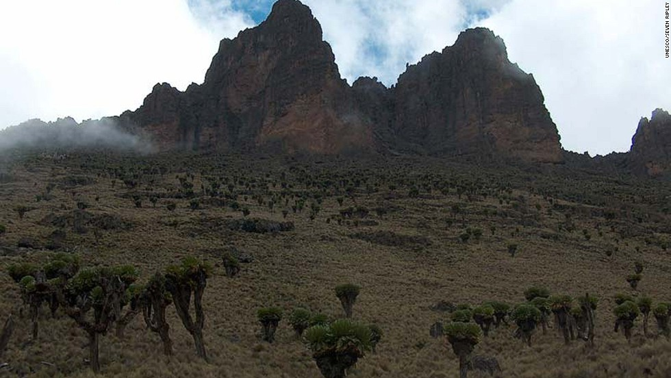 "This one is actually an extension to Mount Kenya Natural Park, which consists of 20,000 hectares and a buffer zone of almost 70,000 hectares and was inscribed in 1997. ""The extension lies within the traditional migrating route of the African elephant population of the Mount Kenya Natural Park, world renowned as the location of the second highest peak in Africa, Mt Kenya, that rises 5,199 meters above the sea,"" says the inscription."