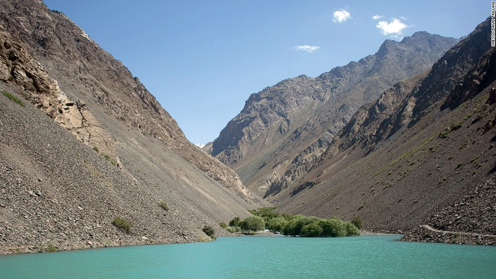 "Tajik National Park covers more than 2.5 million hectares in eastern Tajikistan at the center of the so-called ""Pamir Knot"" --- a meeting point of the highest mountain ranges on the Eurasian continent. ""Subject to frequent strong earthquakes, the park is virtually unaffected by agriculture and permanent human settlements,"" says UNESCO's inscription. ""It offers a unique opportunity for the study of plate tectonics and subduction phenomena.""<br />"