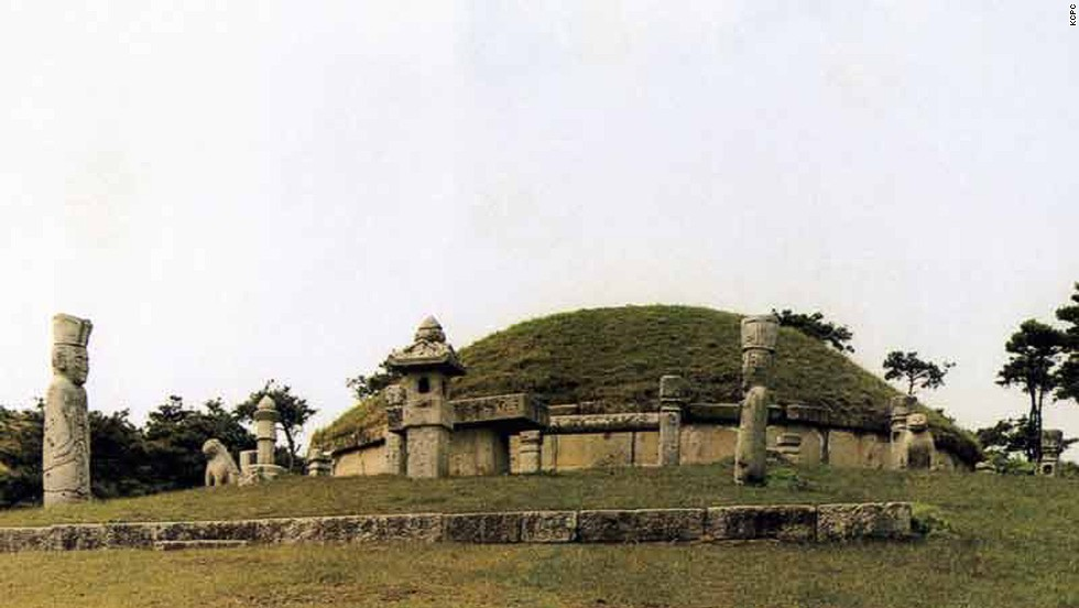 "The historic sites of Kaesong city, in southern North Korea, include 12 separate components that highlight the history and culture of the Koryo Dynasty from the 10th to 14th centuries. ""The geomantic layout of the former capital city of Kaesong, its palaces, institutions and tomb complex, defensive walls and gates embody the political, cultural, philosophical and spiritual values of a crucial era in the region's history,"" says UNESCO's inscription."