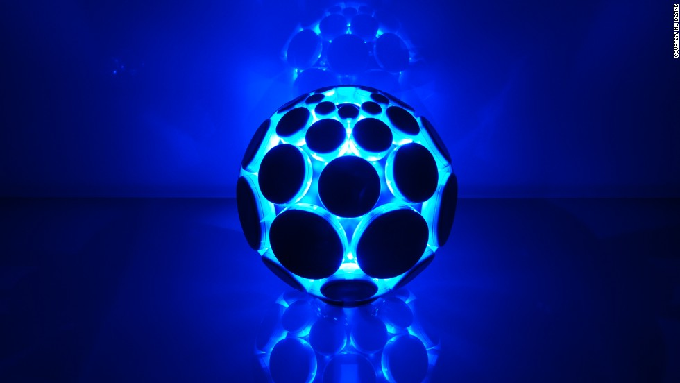 The AlphaSphere is an instrument consisting of 48 elastic pads which respond to touch, velocity and pressure. The layout of notes can be arranged according to the user's preference. The AlphaSphere will be released later this year.