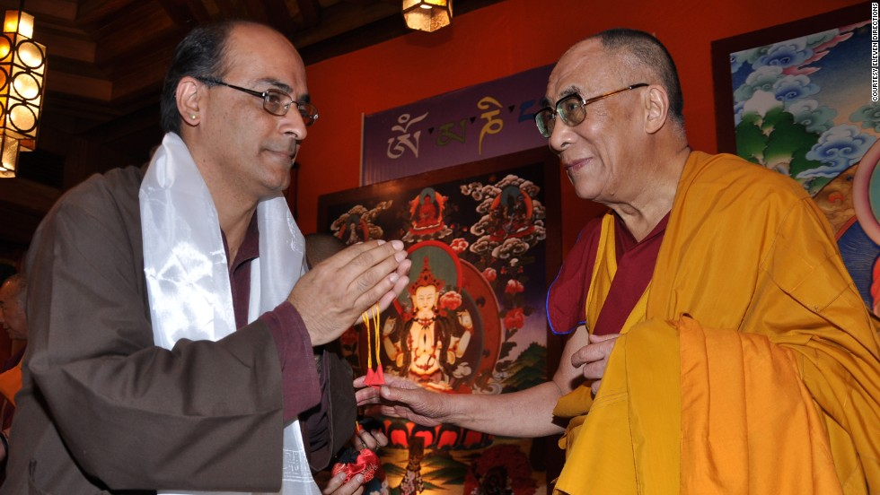 Eleven Directions' guide Shantum Seth with the Dalai Lama.