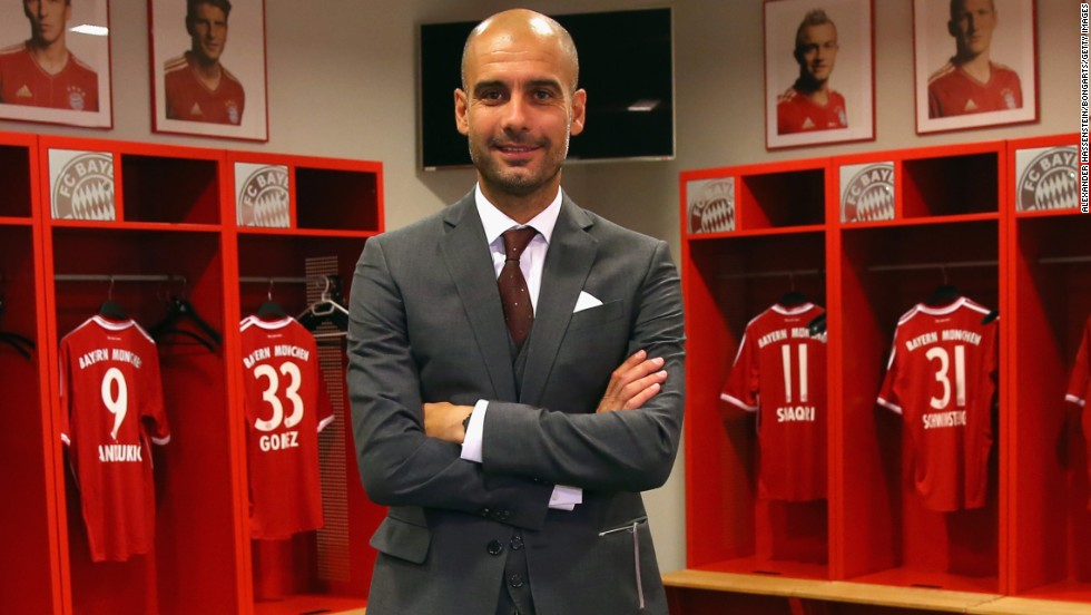 Guardiola won 14 trophies with Barcelona between 2008 and 2012 before taking a sabbatical. Now in charge of Champions League winner Bayern Munich, Guardiola will face his former side in a friendly game at the Allianz Arena.