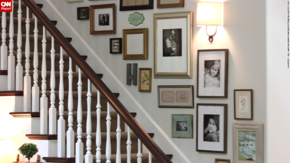 "<a href=""http://ireport.cnn.com/docs/DOC-992265"">Jill Hinson's</a> Portland, Oregon, house wasn't a home until she installed this gallery on the stairwell wall."