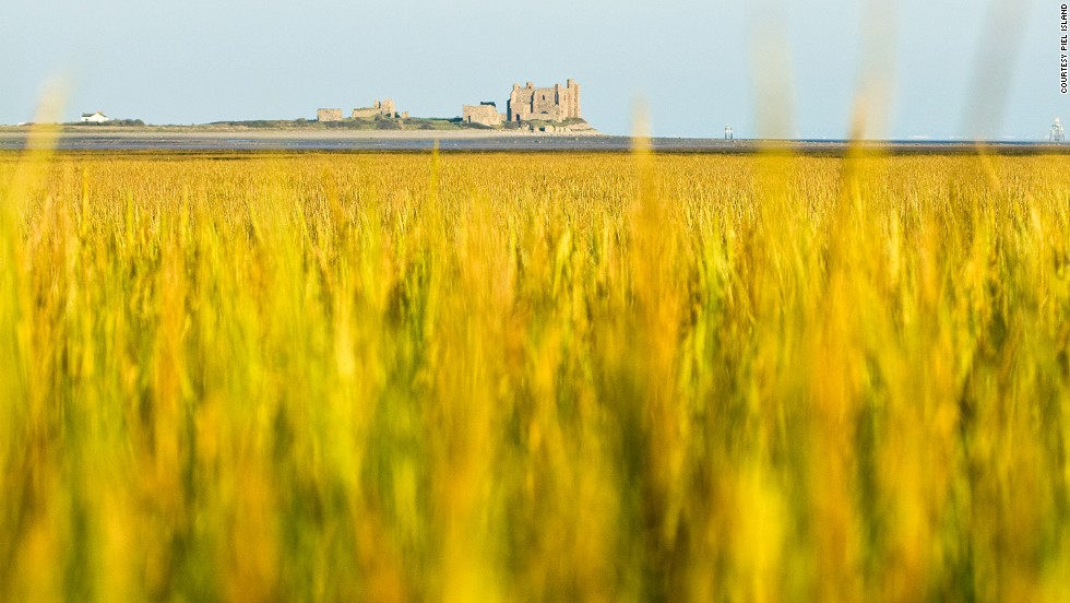 Piel Island has a king, a castle and a pub.  About 500 years ago, the island, once an abbey for Savignac monks, was the launch pad for an invasion against Henry VII's army.