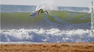 46. Great winter surfing.