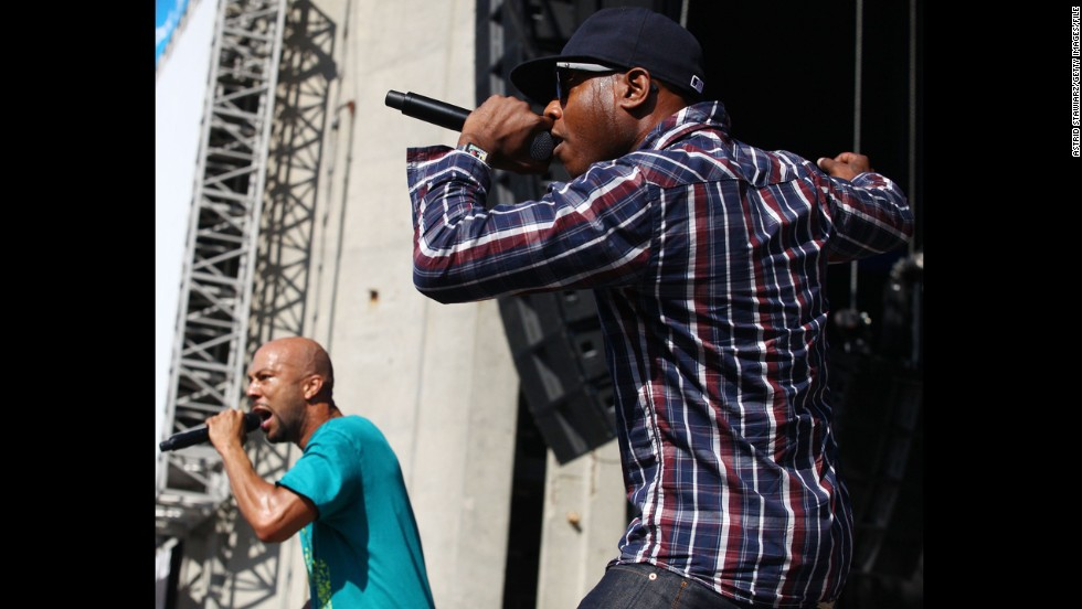 "Asked if he agreed with Common, left, who told CNN in 2009 that Barack Obama's election <a href=""http://www.cnn.com/2009/SHOWBIZ/Music/09/23/common.obama.hip.hop/"">would have a positive effect</a> on hip-hop's messages, Kweli said Obama's ""presence certainly has inspired a generation of artists to do things differently. I agree with that as a symbol."""