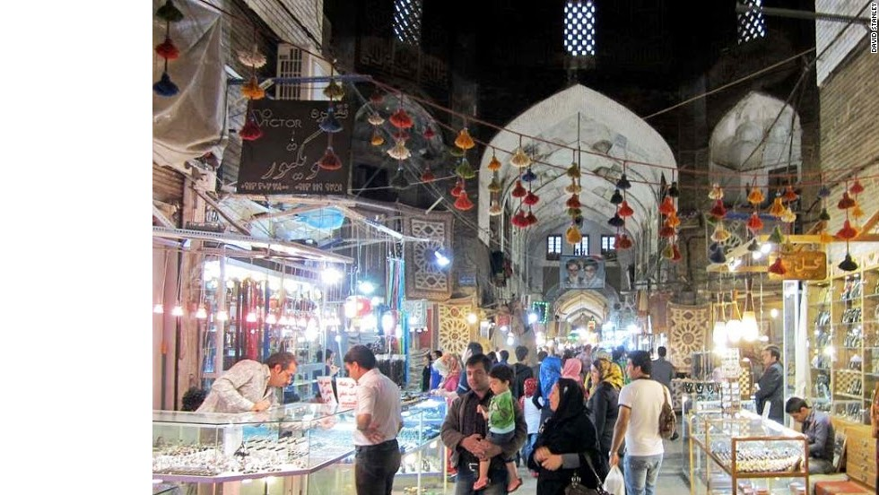 The Bazar-e Bozorg, off the north end of Imam Square in Isfahan, is among Iran's most popular markets.