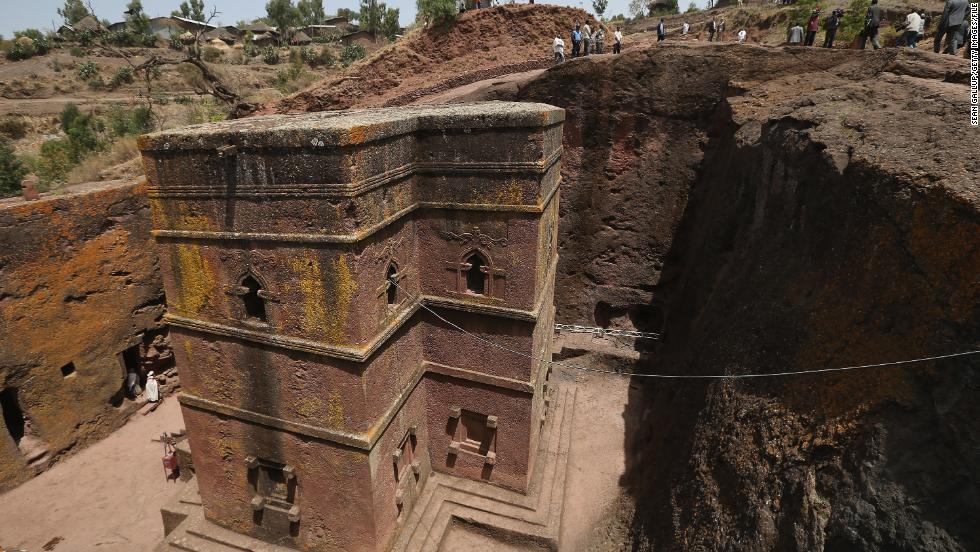 In the rugged mountains of northern Ethiopia, Lalibela is a religious center that's home to 11 famous rock-hewn churches.