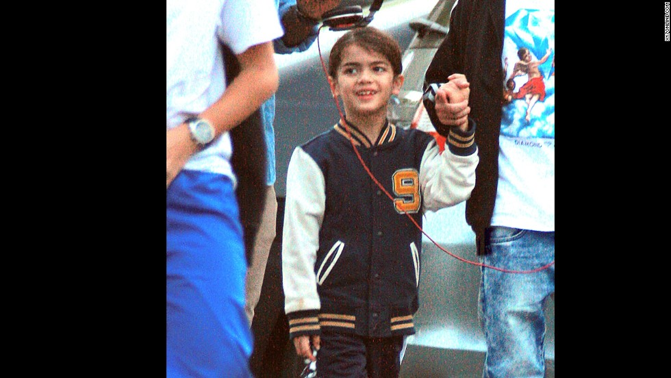 Blanket is seen out in public five months after Jackson's death in 2009.