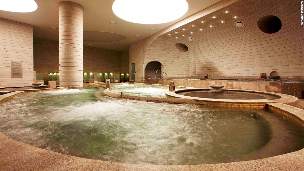 "Baths are single-sex only, with a separate rooms for ""seshin,"" the Korean method of scrubbing the body all over with sandpaper-like loofahs."