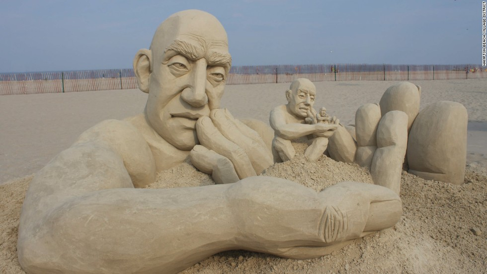 "The 2013 <a href=""http://www.hamptonbeach.org/sandcastle-competition.cfm"" target=""_blank"">Master Sand Sculpting Competition</a> in Hampton Beach, New Hampshire, crowned Carl Jara from Lyndhurst, Ohio, with 1st place for his sculpture ""Infinity."" The sculpture depicts a man holding smaller versions of himself in his hand."