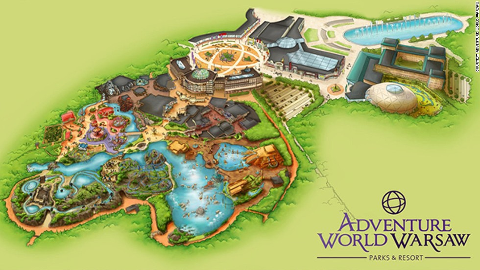 There will be five zones at Warsaw's Adventure World theme park, along with a water park. The Old Town brings to life various creatures from Polish folklore. <strong><br />Opening date</strong>: August 2015.